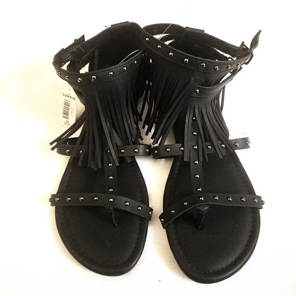 e3a07780e0a NWT Size 10 Wide Torrid Fringe Gladiator Sandal